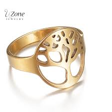 ring weeding uzone steel and gold color 316l stainless steel ring weeding band