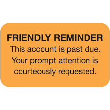 reminder letter template friendly reminder this account is past due label 1 1 2 friendly reminder this account is past due label size 1 1 2