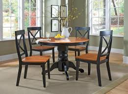 Small Formal Dining Room Sets Small Apartment Dining Room Black Leather Tufted Cushions Cream