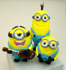 minions cake toppers minions despicable me kevin bob stuart and large minion