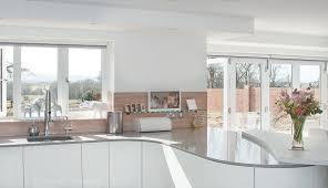 Curved Kitchen Designs Handleless White Curved Kitchen With Quartz Hurstpierpoint