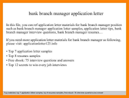 Bank Branch Manager Resume 7 How To Write A Letter To Bank Manager Riobrazil Blog