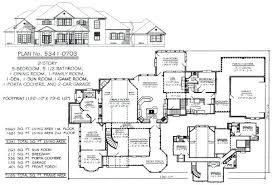 five bedroom floor plans stunning 5 bedroom house plans 1 story photos best inspiration