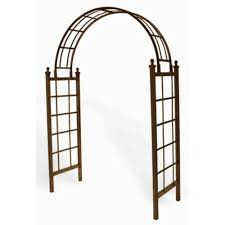 Metal Garden Arches And Trellises Deer Park Latice 85 In H X 60 In W X 23 In D Arch With Spikes