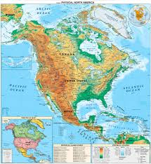 Italy Physical Map by North America Continent Physical Map