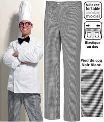 pantalon cuisine noir pantalon cuisine pied de poule noir blanc elastiqué dans le dos