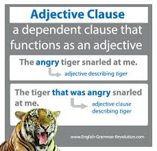 adjective clauses relative clauses
