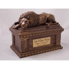 cremation urns for adults lion sleeps tonight cremation urn
