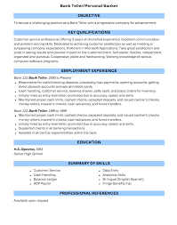 Bank Teller Resume Examples by Bank Teller Resume Sample Resumedoc