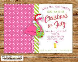 in july invitation birthday pool
