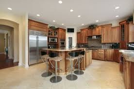 Recessed Lighting In Kitchen Dining Room With Chandelier And Recessed Lighting Ceiling