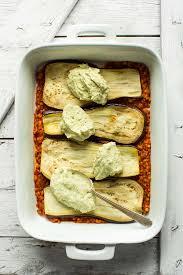 lentil eggplant lasagna minimalist baker recipes