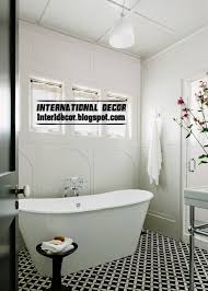 and white tile patterns for bathroom black and white bathroom