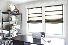 Gray Blinds Diy Burlap Roman Shades From Blinds Bless U0027er House