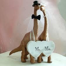 wedding cake topper dinosaur wedding cake topper barn