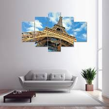 colormix eiffel tower canvas print painting home decoration wall eiffel tower canvas print painting home decoration wall art picture 5 panel