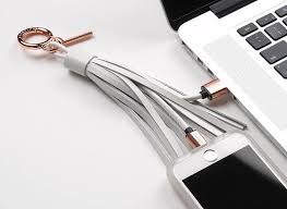 luxury leather tassel charging cable for iphone lightning to usb