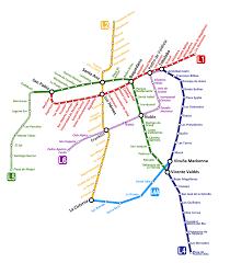 Metro Viena Map by Transantiago Using Public Transportation In Santiago Santiago