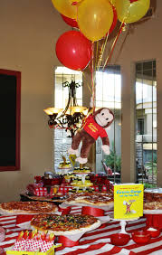 curious george party ideas pizza buffet curious e curious george buffet and
