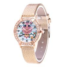 crystal bracelet watches images 2018 brand luxury crystal bracelet watches fashion women owl watch jpg