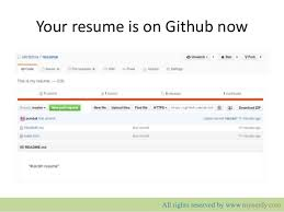 Upload Your Resume Putting Your Resume On Github