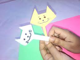 cat face origami paper crafts for kids youtube