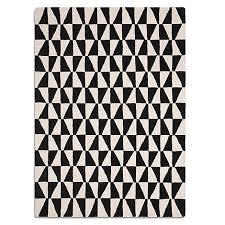 Geometrical Rugs Black And White Geometric Rug Roselawnlutheran