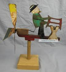 Nautical Weathervane Antique Folk Art Metal Whirligig Man Sawing Log Weathervanes