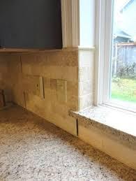 kitchen backsplash travertine tile granite window sill with travertine tile backsplash house yard