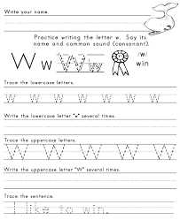 best solutions of letter w printable worksheets with download