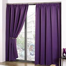 Plum Blackout Curtains Luxury Thermal Supersoft Blackout Curtains Purple Aubergine 46