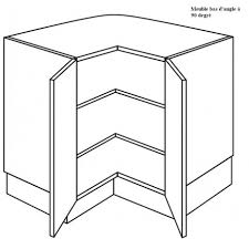 meuble cuisine angle bas meuble d angle à 2 étagères à 90 degrée