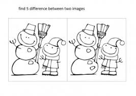 spot and find the difference worksheets crafts and worksheets