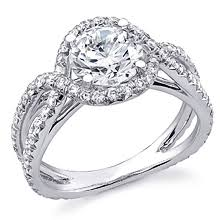 twisted halo engagement ring twisted halo split shank engagement ring ideals