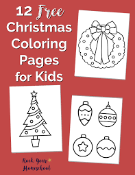 12 free christmas coloring pages for kids rock your homeschool