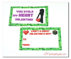 minecraft s day cards 101 best images on valantine day s
