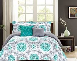 bedding set amazing grey and mint bedding bedspread sensational