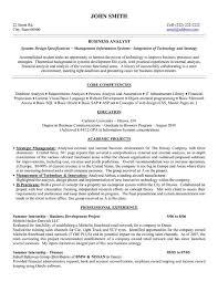 Resume For Analyst Position Business Analyst Sample Resume Jennywashere Com