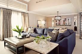 blue sofa living room navy blue couches living room transitional with artwork bay window