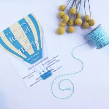 air balloon baby shower invitations kenedie paper
