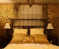 bedroom great room with decor gold design of the bed with a