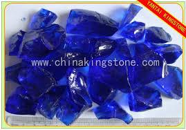 cobalt blue glass rocks for landscaping yantai kingstone