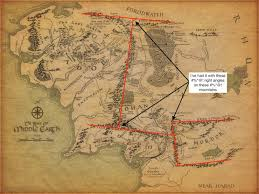 the map of the earth tolkien s map and the messed up mountains of middle earth tor