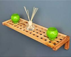 alles für badezimmer installation naturholz regale alles für badezimmer an der wand