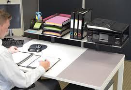 Office Desk Risers Ultimate Office Modular Desktop Platforms Risers And Shelves