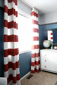 red and white bedroom curtains red and white striped drapes navy walls with red stripe curtains