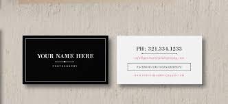 Business Card Design Pricing Wedding Photographer Marketing Set Business Card Template