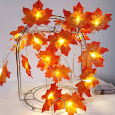 maple leaf garland with lights novelty maple leaf garland led fairy string light aa battery