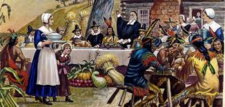 the thanksgiving and what they really ate