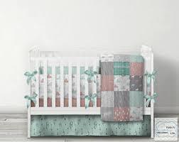 woodland crib bedding etsy